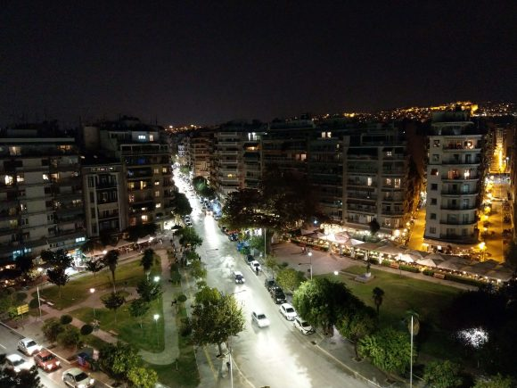 Thessaloniki by night - View from the White Tower